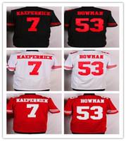 2016 49ers Football Jerseys #7 Kaepernick ##53 Bowman #35 Re...