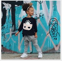 2016 Spring Autumn Girls Clothing Sets Children Loose Trumpe...