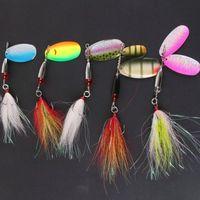 Приманка для ловли приманки из нержавеющей стали Spinner bait Spinner lures Искусственная композитная приманка для приманки Рыболовные снасти с резиновым крюком