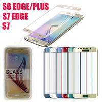 Samsung Galaxy S7 Bord S6 bord plus 0.2mm Screen Protector Explosion en verre trempé Side Preuve S6 Bord De plus en verre trempé DHL SSC031 gratuit