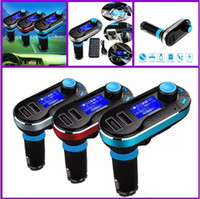Wireless T66 MP3 Player Car Kit FM Transmitter With Car Audi...