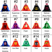 Nouveau 15 couleurs Superhero kids capes mask set Costumes de Noël pour enfants Robe de cocktail de cadeau de noel