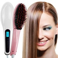 Electric Fast Hair Straightener Comb LCD Iron Brush Auto Mas...