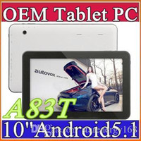 2015 Date Allwinner A83T 10 pouces Octa de base 1024 * 600 tablet pc 1GB / 16GB Android 5.1 Bluetooth HDMI USB OTG D-10PB