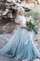 Romantic Long Cheap Lace Bridesmaid Dresses Sheer Neck Short...