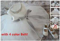 2015 White chiffon toddler girls christening gowns, Pearl Ves...