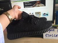 pirate black 350 kanye west boost 350 men boy soccer shoes s...