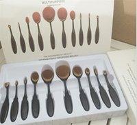 Кисти для макияжа наборы Овальная щетка Зубная щетка формы Фонд чистых Benefit Cosmetics Крем Пафф пудру красоты Инструменты Аксессуары