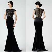 Saiid Kobeisy Black Mother Of The Bride Mermaid Custom Made ...