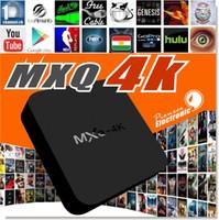 MXQ-4K Android TV Box RK3229 Quad Core 1 Go DDRIII 8 Go Nand Flash avec Kodi15.2 XBMC WiFi 2.4GHz Support H.265 4K 60fps Streaming Media
