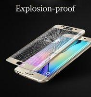 0.2MM Galaxy S6 S7 Защитная пленка для экрана Закаленное стекло S7 S6 Edge Plus Full Cover Весь экран 3D изогнутый с розничным пакетом