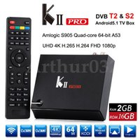KII Pro DVB-S2 DVB-T2 Amlogic S905 Quad-core Android 5.1 TV Box 2G 16G UHD 4K 2.4G5G Wifi Bluetooth 4.0 Kodi Pré-instalar o Smart Media Player