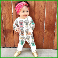 Toddler infant baby rompers ice cream bottle jumpsuits newbo...