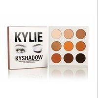 Kylie Ombres à paupières Jenner Kyshadow pressé poudre ombre à paupières Kit Palette Bronze kylie jenner Maquillage cosmétique 9 couleurs DHL