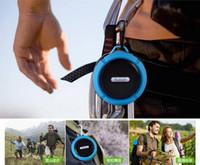 C6 IPX7 deportes al aire libre a prueba de agua Reproductor portátil de altavoces estéreo Bluetooth Wireless Copa de succión Manos libres para el dispositivo IOS Android