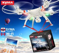 Syma originale X8W 2.4G 6 Axis Gyro 4CH RC FPV Quadcopter RTF Wifi Drones professionnels avec 2.0MP caméra HD Helicpoter DHL gratuit