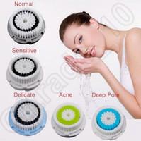 100PCS LJJH1309 elétrica Escova Facial Face de lavagem Skin Deep Limpeza Pore Sistema de substituição Cap cabeça da escova de pele compatível ultra-sônica