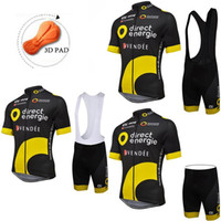 2016 Black BH Direct Energie Cycling Jersey Sets With 3D PAD...