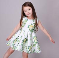 2016 Fashion Summer Girls Vest Dress Flora Flower Birthday P...