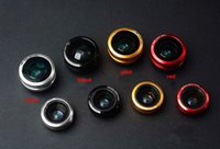 Wholesale- Metal Ring Clip Mobile Phone Lens Fish eye wide a...