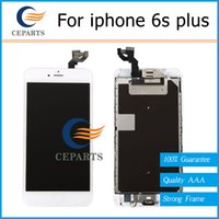 Pour iphone 6s plus lcd écran tactile digitizer réparation d'assemblage avec home button caméra frontale