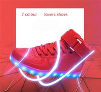 NEW 7 Colors LED luminous shoes unisex men & women USB charg...