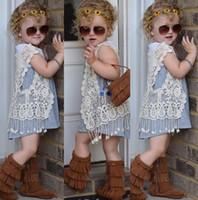 Fashion Girls Kids Cardigans Baby Children Lace Hollow Waist...