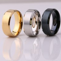 Fashion Jewelry 8MM Stainless Steel Ring Band Titanium Silve...