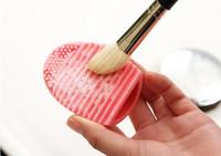 Huevo guante de la limpieza del maquillaje del cepillo de lavado depurador Junta cosmética Brushegg cepillo cosmético del huevo 7colors brushegg 2016