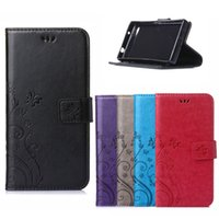 3D Flower Flip PU Leather Case for For Sony Xperia Z5 Z4 Z3 ...