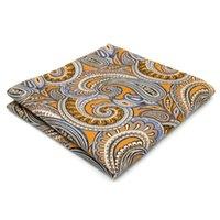 Wholesale- Hanky Paisley Floral Gold Yellow Blue Handkerchief...