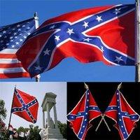 DHL frete grátis Dois Lados Impresso confederado Bandeira nacional de poliéster 5 X 3FT bandeira confederada rebelde guerra civil rebelde 100pcs 0345