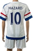 15- 16 Chelse- a home blue soccer uniform away white thai qual...