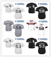 COOL BASE Chicago White Sox Baseball Jerseys 58 Geovany Soto...