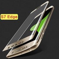 Samsung Galaxy S7 Bord S6 Bord plus Note 5 Protections d'écran en verre trempé pleine couverture 3D Curved Side verre de trempe de protection écran