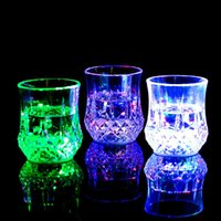 6pcs lot Transparent Acrylic LED Cups Colorful Flashing Ligh...