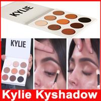 Kyshadow Дженнер комплект пудра тени для глаз Кайли Косметика Тени для век Бронзовый палитра 9 цветов