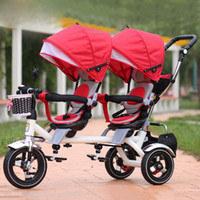 Hot Selling Twins Double Child Bike Stroller Double Seats Ba...