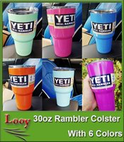 Nouveau Couleur Rose YETI Tumbler Rambler Coupes Bleu Bleu Clair Orange Pourpre Végétal Vert Yeti Mugs Tasses à grande capacité en acier inoxydable Tumbler