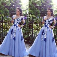 2016 Dubai Evening Gowns Floor Length V Neck Lace Appliques ...