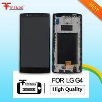 Haute qualité pour LG G4 LCD avec Digitizer écran tactile avec ossature de cadre avant la pleine Assemblée Noir
