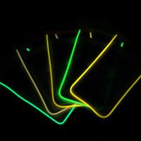 Universal Effacer LED PVC lumineux étanche Preuve Housse eau Sac Underwater Dry Cover Pour iPhone 5 5S 6 plus S6 bord S5 Note 3 4