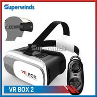 Grande qualité VR Box Case V2 II 3D Lunettes virtuelles en plastique Google Cardboard Casque cas pour les jeux VR Jeux vidéo Livraison gratuite