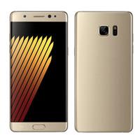 5.7inch NOTE7 N930 téléphone mobile MTK6580 Android 6,0 Lollipop Quad Core 1G / 4G peut afficher 1G / 64G faux 4G LTE GPS WIFI téléphone déverrouillé
