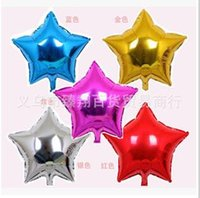 wholesales 18 inch Pentagram shaped Helium Foil balloon cart...