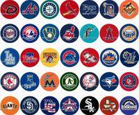 Free shipping Sport Baseball 35pcs   lot glass snap button j...