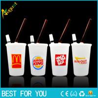 hot White jade McDonald Cup Glass smoking pipes Galss bongs ...