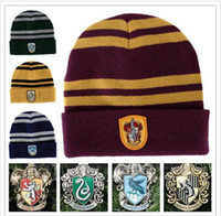 Harry Potter Beanie Ravenclaw Gryffindor Skull Caps Slytheri...