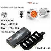 100% Original Yocan Evolve Evolve-D plus NYX CERUM atomiseur remplacement Quatz double Bobines QDC Head Dry Herb cire 5 types Coil Vaporisateur Pen