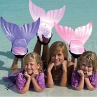 Cute Kid Children Swimming Fins Mermaid Swim Fin Swimming Fo...
